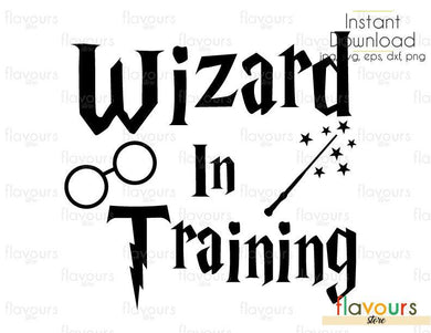 Wizard In Training - Harry Potter - Cuttable Design Files (Svg, Eps, Dxf, Png, Jpg) For Silhouette and Cricut