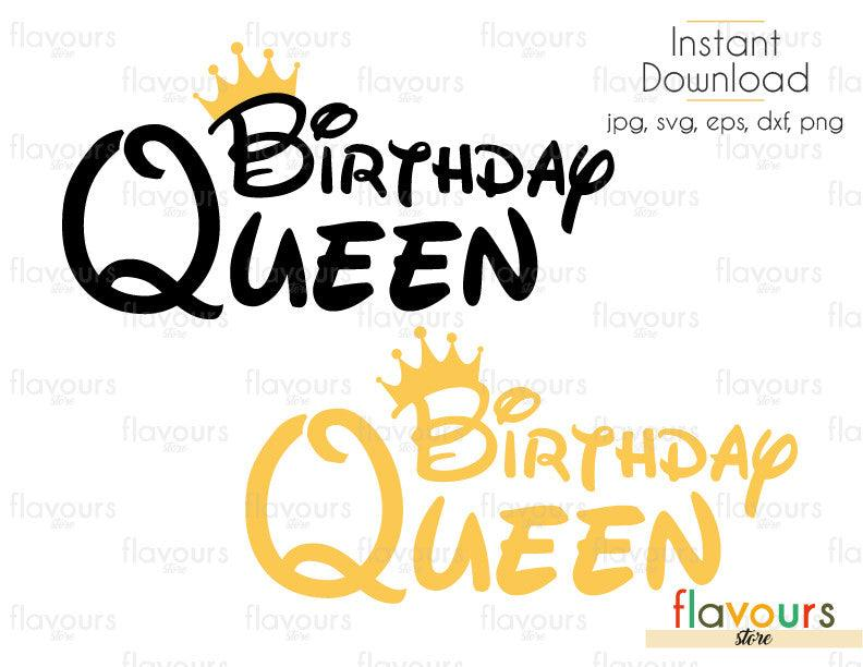 Queen Birthday - Cuttable Design Files (Svg, Eps, Dxf, Png, Jpg) For Silhouette and Cricut