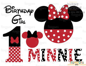 Birthday Minnie Set - Disney - Cuttable Design Files (Svg, Eps, Dxf, Png, Jpg) For Silhouette and Cricut