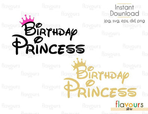 Birthday Princess - Cuttable Design Files (Svg, Eps, Dxf, Png, Jpg) For Silhouette and Cricut