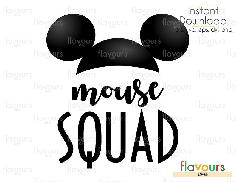 Mouse Squad - Cuttable Design Files (Svg, Eps, Dxf, Png, Jpg) For Silhouette and Cricut