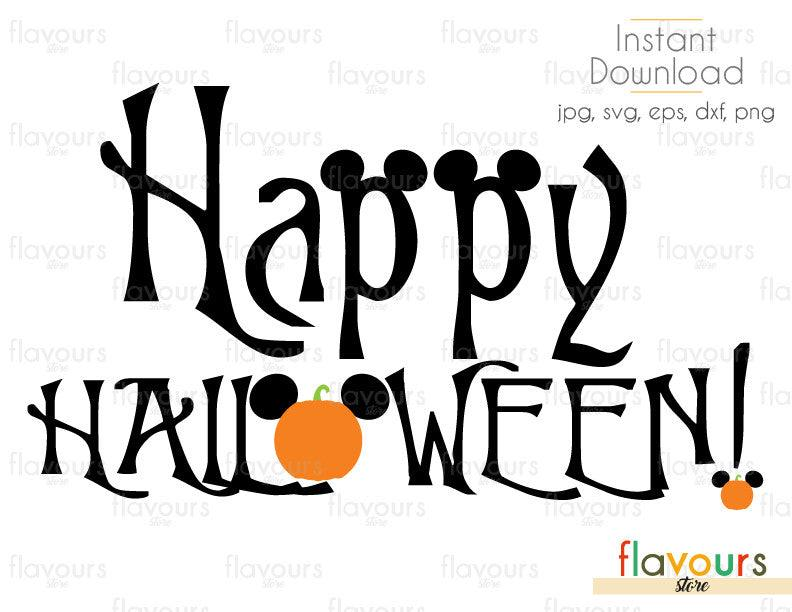 Happy Halloween - Cuttable Design Files (Svg, Eps, Dxf, Png, Jpg) For Silhouette and Cricut