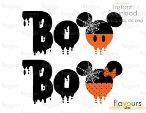 BOO Ears Halloween - Cuttable Design Files (Svg, Eps, Dxf, Png, Jpg) For Silhouette and Cricut