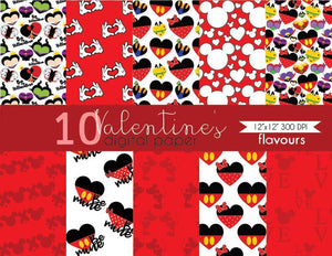 Valentine's Digital Paper - Instant Download