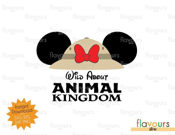 Wild About Animal Kingdom Minnie Ears Hat - SVG Cut File