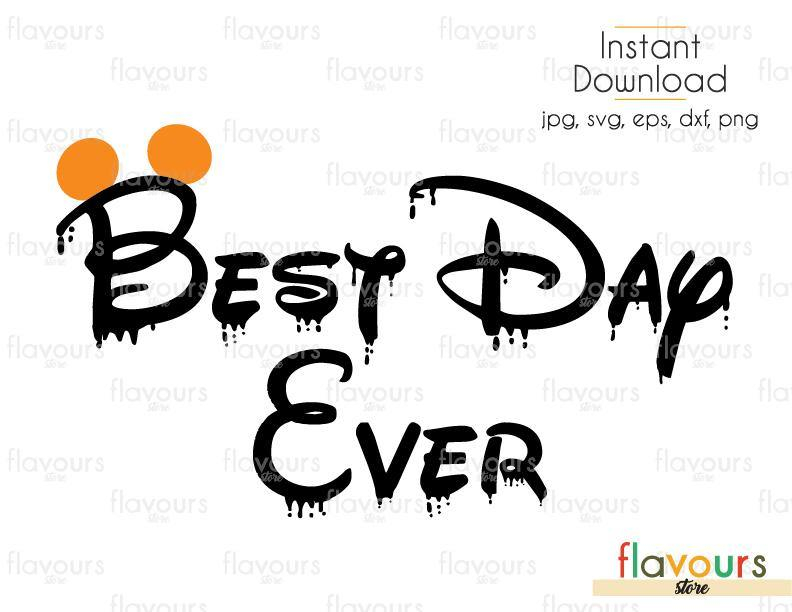 Best Day Ever Halloween Mickey Ears - Cuttable Design Files (Svg, Eps, Dxf, Png, Jpg) For Silhouette and Cricut