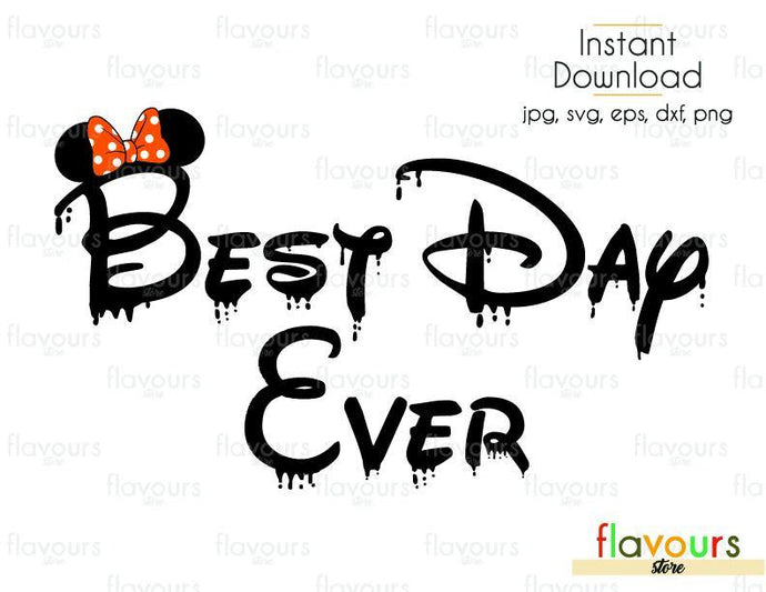 Best Day Ever Halloween Minnie Ears - Cuttable Design Files (Svg, Eps, Dxf, Png, Jpg) For Silhouette and Cricut