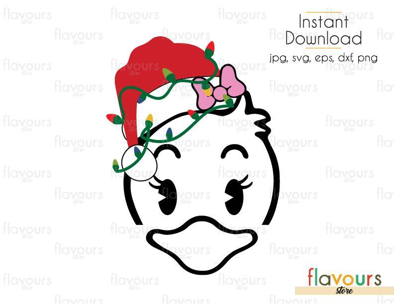 Daisy Christmas Hat And Lights - Cuttable Design Files (SVG, EPS, DXF, PNG) For Silhouette and Cricut