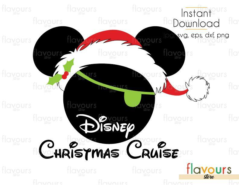 Disney Christmas Cruise - Mickey Pirate - Cuttable Design Files (SVG, EPS, DXF, PNG) For Silhouette and Cricut