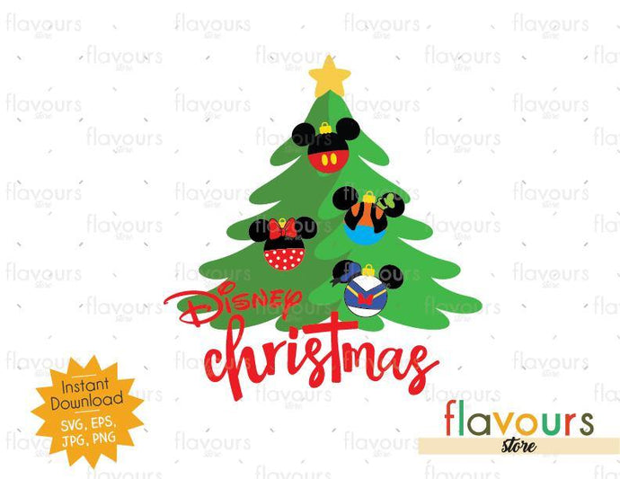 Disney Christmas Tree - SVG Cut File - FlavoursStore