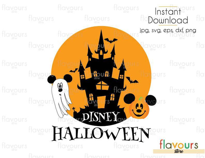 Disney Halloween - Cuttable Design Files (Svg, Eps, Dxf, Png, Jpg) For Silhouette and Cricut