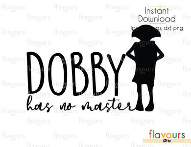 Dobby Has No Master - Harry Potter - SVG Cut File - FlavoursStore
