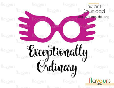 Exceptionally Ordinary - Luna - Harry Potter - SVG Cut files - FlavoursStore