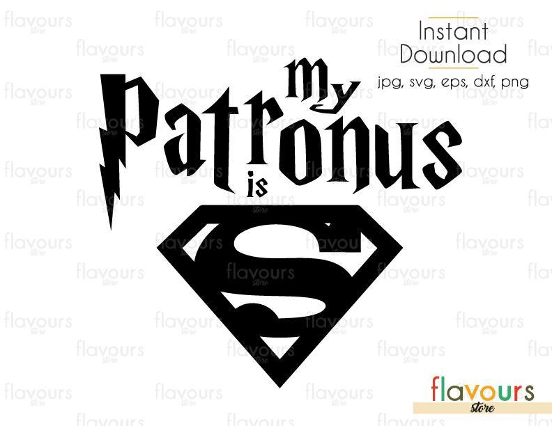 My Patronus is Superman - Harry Potter - Cuttable Design Files (Svg, Eps, Dxf, Png, Jpg) For Silhouette and Cricut