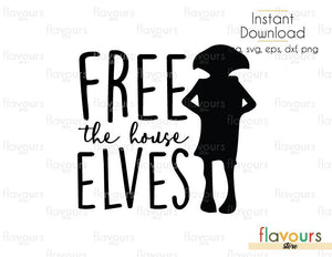 Free The House Elves - Harry Potter - Cuttable Design Files (Svg, Eps, Dxf, Png, Jpg) For Silhouette and Cricut