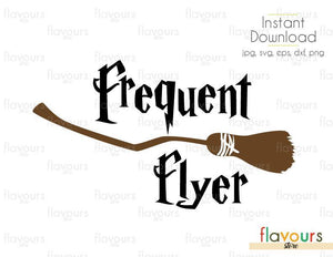 Frequent Flyer - Cuttable Design Files (Svg, Eps, Dxf, Png, Jpg) For Silhouette and Cricut