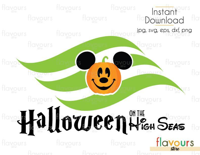 Halloween On The High Sea Mickey Pumpkin - Cuttable Design Files (Svg, Eps, Dxf, Png, Jpg) For Silhouette and Cricut