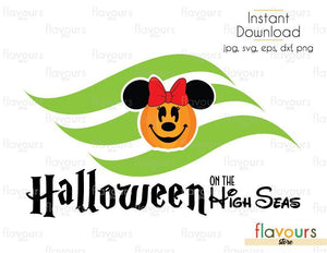 Halloween On The High Sea Minnie Pumpkin - Cuttable Design Files (Svg, Eps, Dxf, Png, Jpg) For Silhouette and Cricut