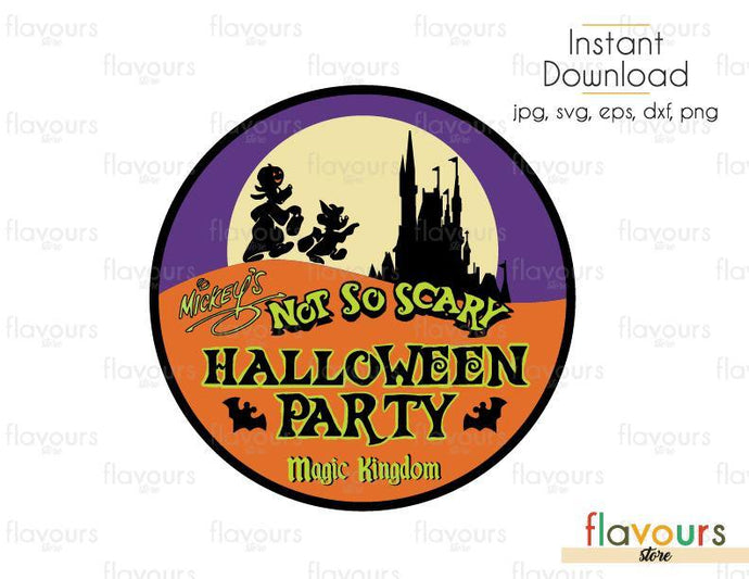 Halloween Party - Cuttable Design Files (Svg, Eps, Dxf, Png, Jpg) For Silhouette and Cricut