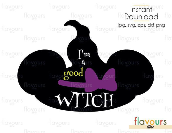 I'm A Good Witch Minnie Ears - Cuttable Design Files (Svg, Eps, Dxf, Png, Jpg) For Silhouette and Cricut