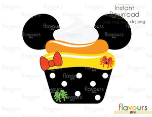 Minnie Cupcake Candy Corn - Disney Halloween - Cuttable Design Files (Svg, Eps, Dxf, Png, Jpg) For Silhouette and Cricut