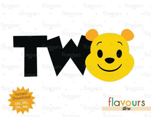 Two - Winnie The Pooh - Cuttable Design Files