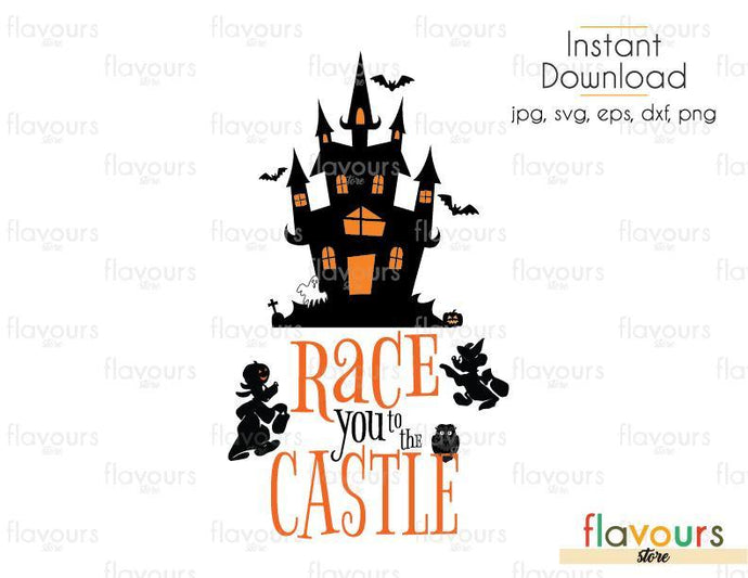 Race You To The Castle Halloween Cuttable Design Files Svg Eps Dx Flavoursstore