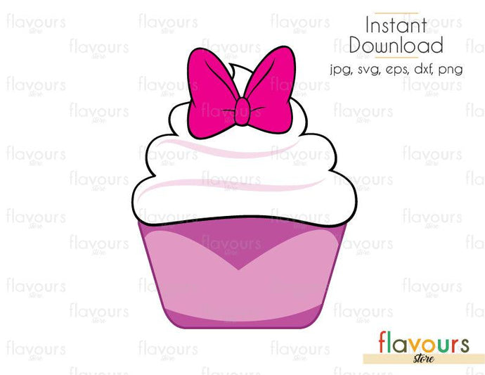 Daysi Cupcake - Disney- Cuttable Design Files (Svg, Eps, Dxf, Png, Jpg) For Silhouette and Cricut