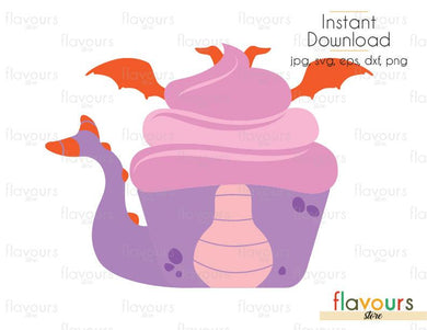 Figment  Cupcake - Disney - Cuttable Design Files (Svg, Eps, Dxf, Png, Jpg) For Silhouette and Cricut