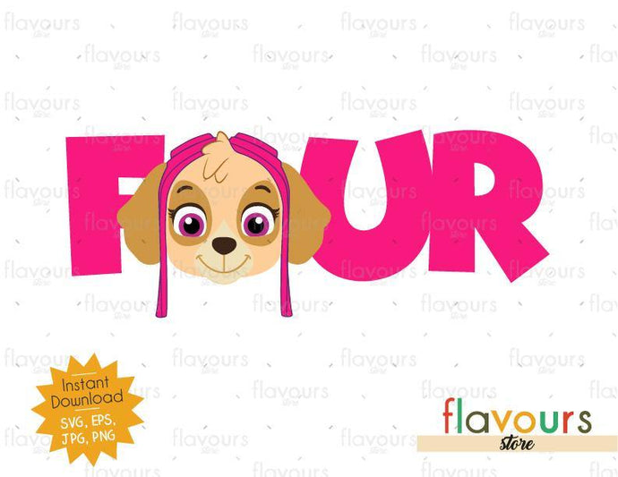 Four - Skye - Paw Patrol - Instant Download - SVG FILES