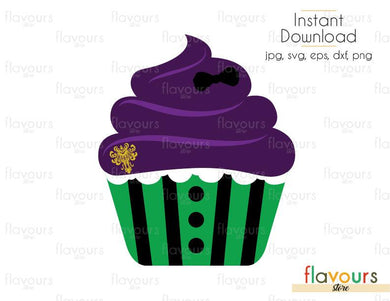Haunted Mansion  Cupcake - Haunted Mansion - Cuttable Design Files (Svg, Eps, Dxf, Png, Jpg) For Silhouette and Cricut