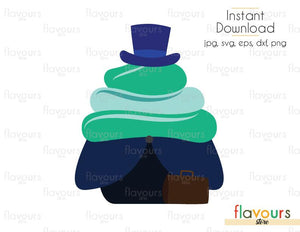 Hitchhiking Ghosts Phineas Cupcake - Hitchhiking Ghosts - Cuttable Design Files (Svg, Eps, Dxf, Png, Jpg) For Silhouette and Cricut
