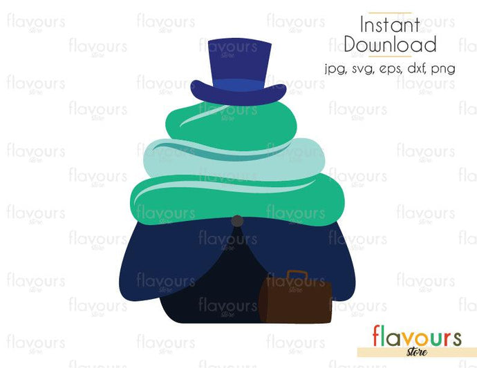 Hitchhiking Ghosts Phineas Cupcake - Hitchhiking Ghosts - SVG Cut File