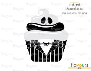 Jack Cupcake - Disney - Cuttable Design Files (Svg, Eps, Dxf, Png, Jpg) For Silhouette and Cricut