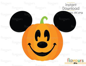 Mickey Pumpkin - Cuttable Design Files (Svg, Eps, Dxf, Png, Jpg) For Silhouette and Cricut