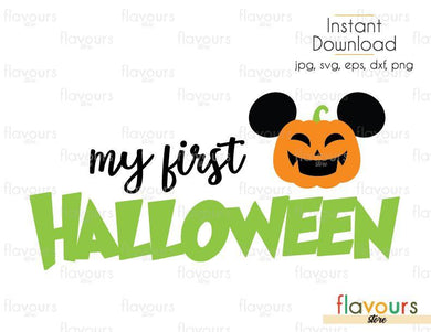 My First Halloween Mickey Pumpkin - Cuttable Design Files (Svg, Eps, Dxf, Png, Jpg) For Silhouette and Cricut