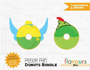 Peter Pan Donuts Bundle - Instant Download - SVG Cut File