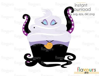 Ursula - The Little Mermaid  - Cuttable Design Files (Svg, Eps, Dxf, Png, Jpg) For Silhouette and Cricut