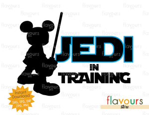 Jedi Mickey Mouse - Jedi in Training - Star Wars - Cuttable Design Files