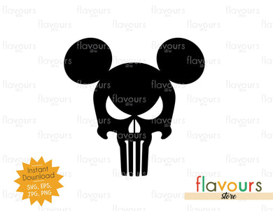Punisher Ears - SVG Cut File