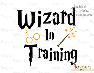 Wizard In Training - Harry Potter - Instant Download - For Silhouette and Cricut