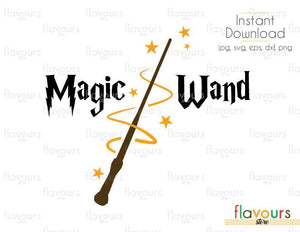 Magic Wand - Cuttable Design Files (Svg, Eps, Dxf, Png, Jpg) For Silhouette and Cricut