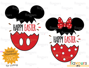 Happy Easter - Minnie and Mickey Easter Eggs - SVG Cut File