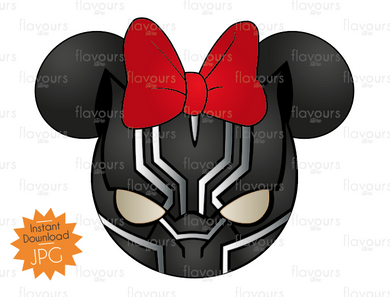 Black Panther Minnie Ears - Disney - Digital Files Printables - Iron On Transfer - JPG Files