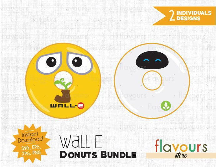 Wall E Donuts Bundle - Instant Download - SVG Cut File
