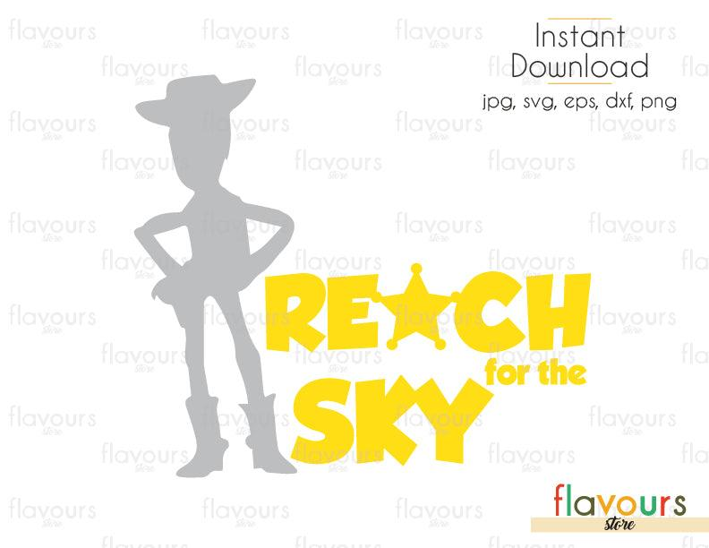 Reach For The Sky - Toy Story - Cuttable Design Files (Svg, Eps, Dxf, Png, Jpg) For Silhouette and Cricut