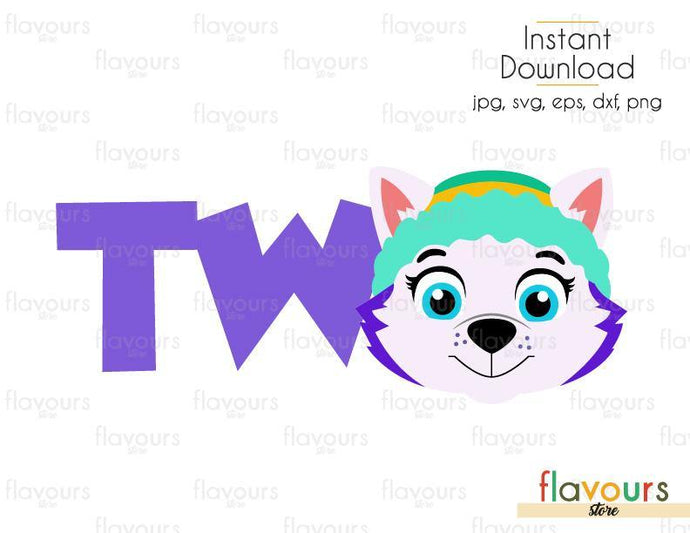 Two - Everest - Paw Patrol - Cuttable Design Files (Svg, Eps, Dxf, Png, Jpg) For Silhouette and Cricut - FlavoursStore