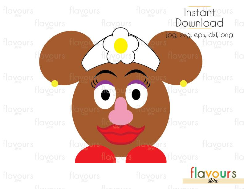 Minnie Mrs Potato - Toy Story - Cuttable Design Files (Svg, Eps, Dxf, Png, Jpg) For Silhouette and Cricut