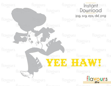 Yee Haw Jessie - Toy Story - Cuttable Design Files (Svg, Eps, Dxf, Png, Jpg) For Silhouette and Cricut