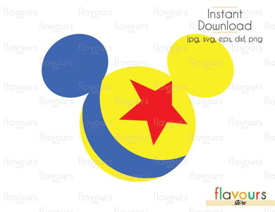 Mickey Pixar Ball - Toy Story - Cuttable Design Files (Svg, Eps, Dxf, Png, Jpg) For Silhouette and Cricut